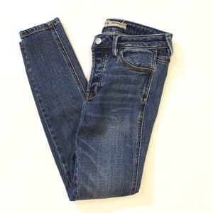 Free People Button Fly Mid-High Rise Skinny Jeans